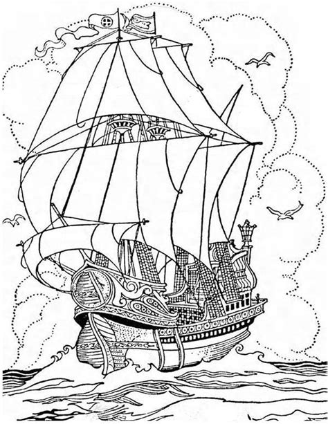 pirate ship coloring page pirate ship a big pirate ship galleon coloring page
