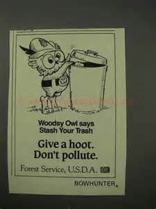 Forest Service Woodsy Owl Give a Hoot