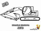 Coloring Pages Construction Machines Jcb Digger Excavator Digging Mighty Colour Loader Yescoloring Dozer Popular sketch template