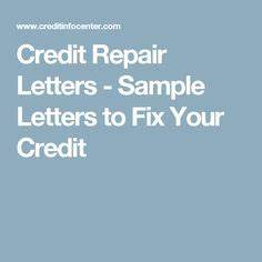 Sample business letter credit card credit repair secrets for Letters to fix credit
