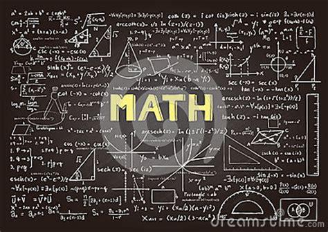 hand drawn mathematics formulas  chalkboard