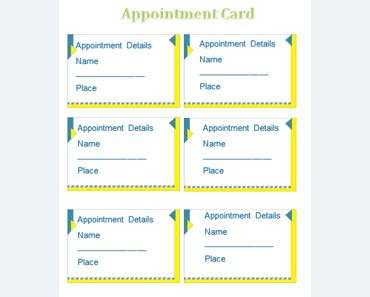 appointment card template microsoft word appointment card template templates for microsoft 174 word