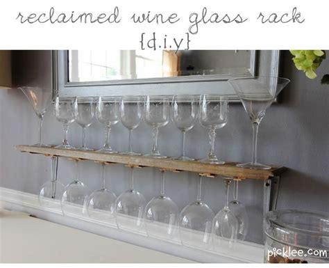Best 25+ Hanging Wine Glass Rack Ideas On Pinterest