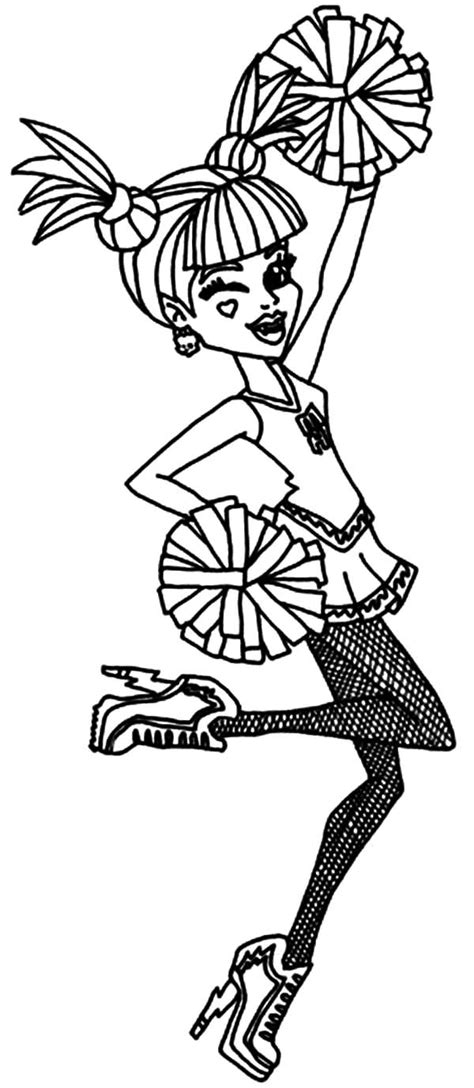 minnie mouse cheerleader coloring pages cheerleader