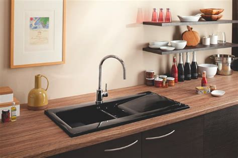black ceramic kitchen sinks back to black carron launches chic black ceramic 4659