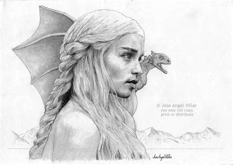 Game Of Thrones Daenerys Targaryen By Joseangelvillar On