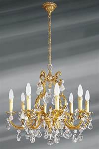 Lustre Pampilles Cristal : lustre pampilles cristal de boh me bronze patin vieil or 8 lumi res lucien gau luminaires ~ Teatrodelosmanantiales.com Idées de Décoration