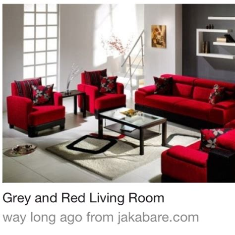grey red black living room living room pinterest