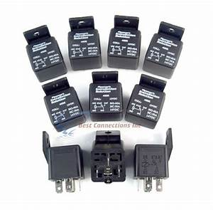 Car Relays 5 Pin Slot 40 Amp 12 Volt Spdt Heavy Duty 5 Wire Audiopipe  10