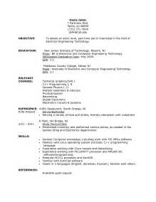 part time resumes resume objective exles part time