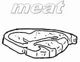 Coloring Pages Meat Beef Steak Printable Getdrawings Getcolorings Template sketch template