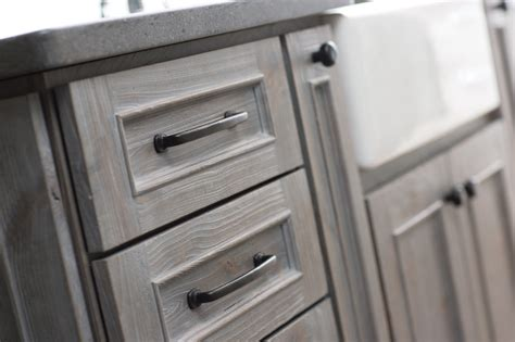 grey stained cabinets for oak weathered wood kitchen island transitional kitchen
