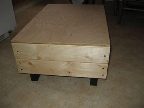wooden build wood ottoman  plans