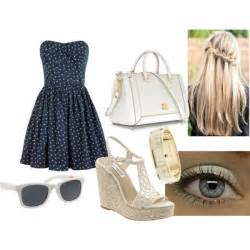 White Summer Dress Outfits Polyvore