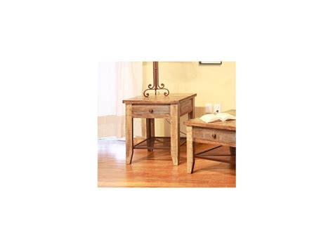 international furniture direct reclaimed wood end table