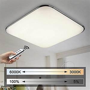 Wohnzimmer Lampe Dimmbar : natsen moderne led deckenlampe wohnzimmer lampe i503y 50w ~ Watch28wear.com Haus und Dekorationen