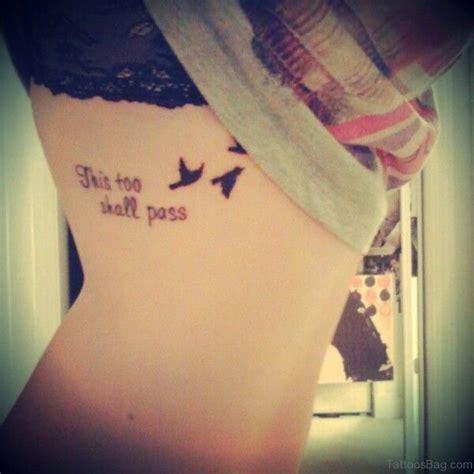 mind blowing wording tattoos  rib