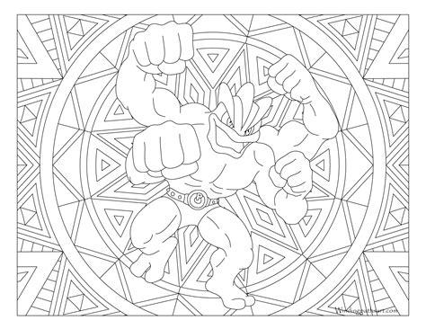 machamp pokemon coloring page windingpathsartcom