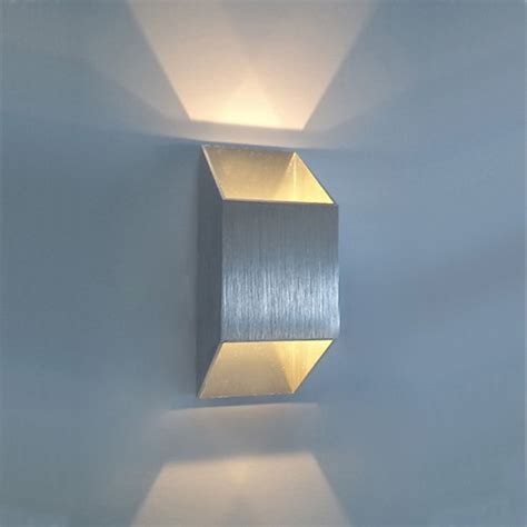 new 2w 2 1w led wall light sconce up down recessed lighting fixture modern decor l