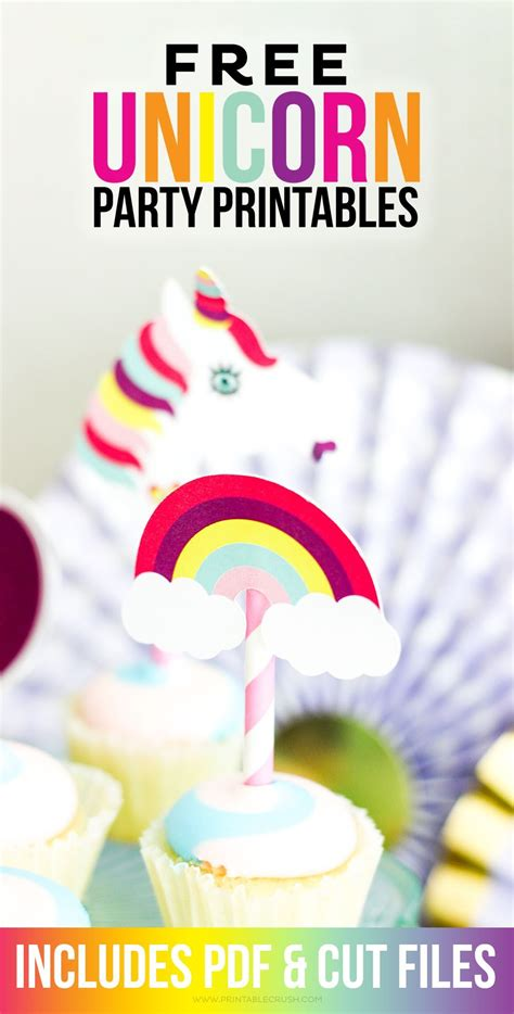 free unicorn printables and cut files printable crush