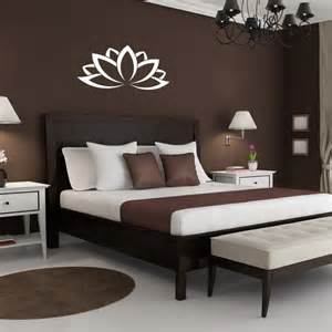 schlafzimmer wand wall vinyl decal lotus flower design murals interior decor sticker removable room window