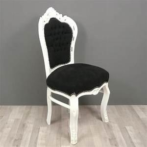 Chaise Baroque Noir : chaise baroque noire et blanche fauteuils baroques ~ Teatrodelosmanantiales.com Idées de Décoration