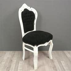 Chaise Baroque Noire Et Blanche Fauteuils Baroques