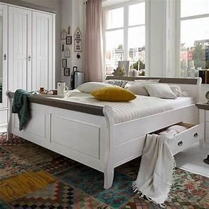 Schlafzimmer Weiß Grau : schlafzimmer komplettset caneon im landhausstil ~ Frokenaadalensverden.com Haus und Dekorationen