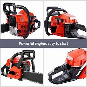 Homdox Gas Chainsaw 20 U0026 39  U0026 39  Bar 58cc 2