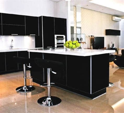 hermosas cocinas en color blanco  negro