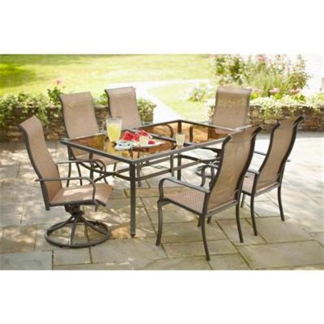 hton bay charlemont 7 patio dining set xas 1750