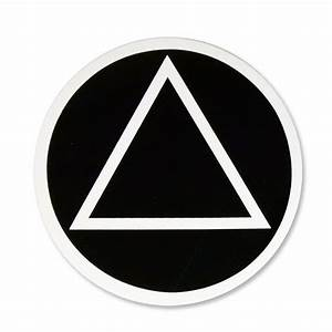Circle Triangle Sticker - Alcoholics Anonymous Cleveland