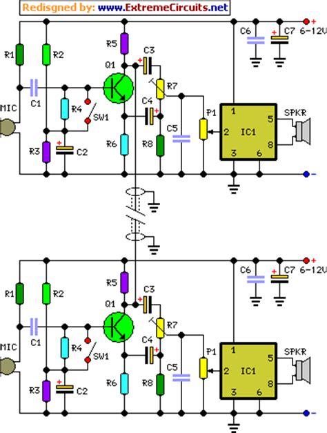 Full Duplex Intercom Circuit Diagram