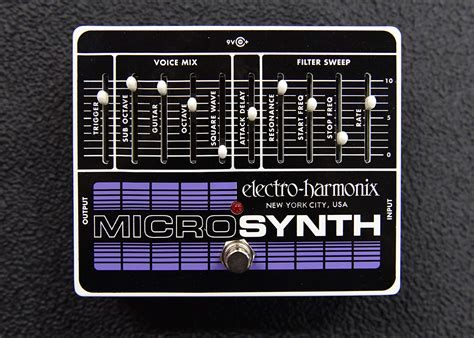 Electro Harmonix Micro Synth Sound Templates by Micro Synth Dave S Guitar Shop