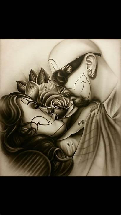 Lowrider Chicano Arte Drawings Clown Tattoo Drawing