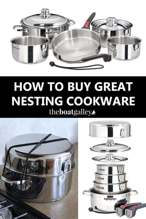 pots pans nesting boat spaces cookware theboatgalley galley boats space