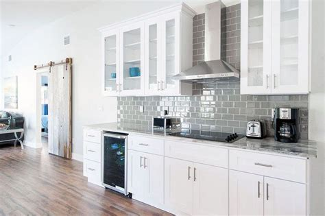 small kitchens  white cabinets house  wall