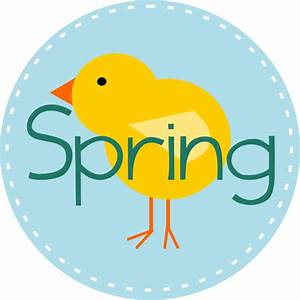 Spring Is Here Circle Blue Clip Art at Clker.com - vector ...
