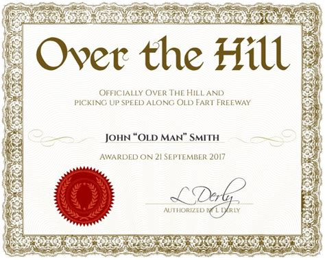 the hill birthday card template certificate template