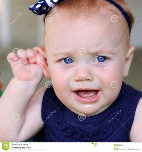 Baby Girl With Ear Ache Stock Image Image 25229641