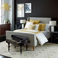 upholstered sleigh bed Upholstered Sleigh Bed - Linen Weave   west elm