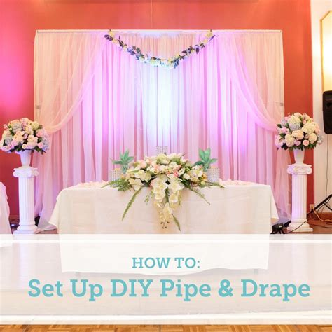 Diy Backdrop Decorations by How To Set Up A Diy Wedding Backdrop Diy Diy Wedding