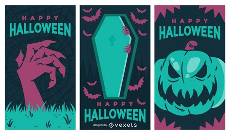 ✓ free for commercial use ✓ high quality images. Spooky Halloween banner set - Vector download