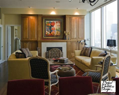 A Strong Focal Point-traditional-living Room-chicago