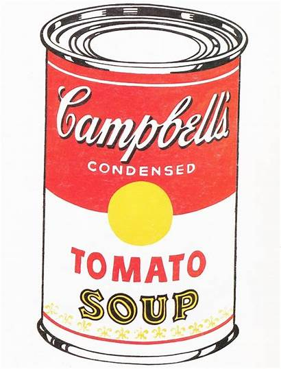 Soup Warhol Andy Pop Campbell Clipart 1962