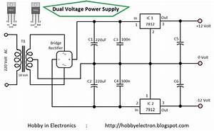 Hobby In Electronics  Dual Voltage Power Supply 12 Volt