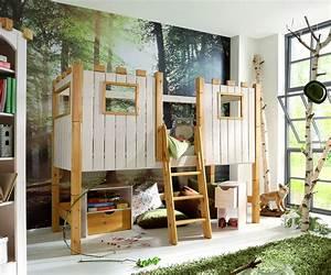 Coole Jugendzimmer Mit Hochbett : kinderhochbett als ritterburg aus holz kids paradise ~ Bigdaddyawards.com Haus und Dekorationen