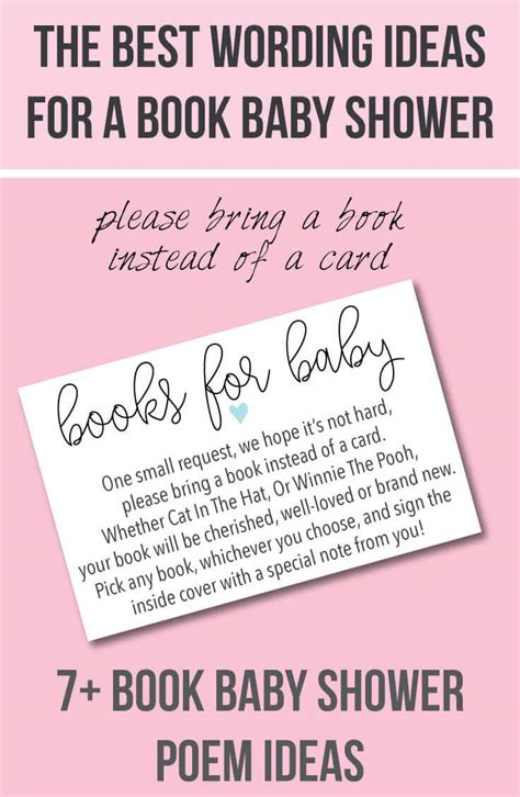 bring  book    card baby shower invitation