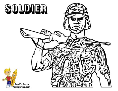 Gusto Coloring Pages To Print Army Army Free