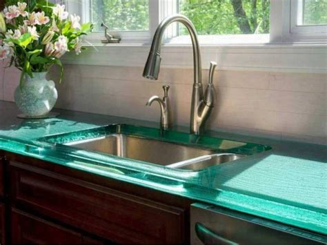 tempered glass countertop top kitchen countertop materials pros and cons
